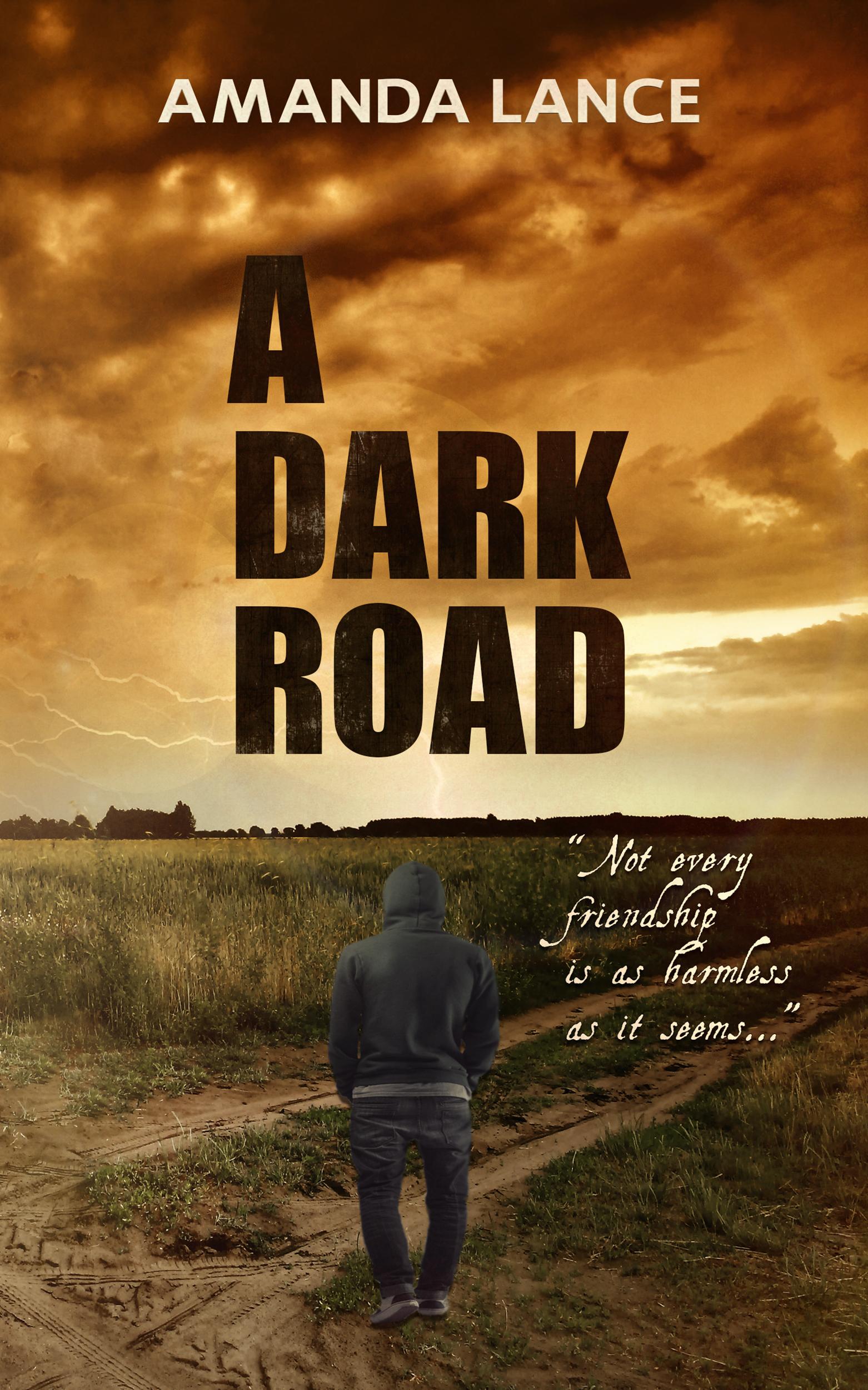 Beautiful Darkness Book Cover ~ A dark road amanda lance